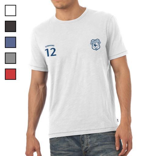 Cardiff City FC Mens Sports T-Shirt