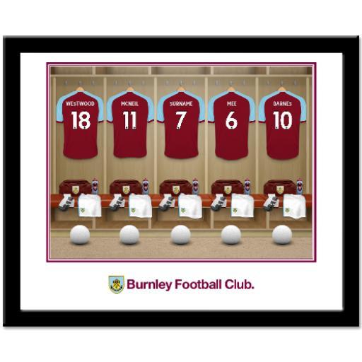 Burnley FC Dressing Room Framed Print