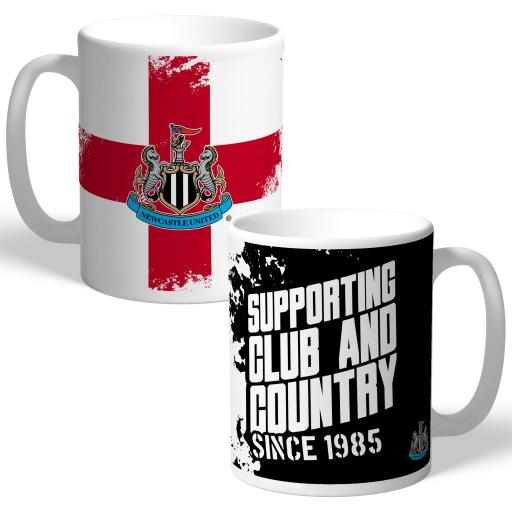 Newcastle United FC Club and Country Mug