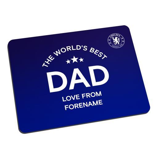 Chelsea FC World's Best Dad Mouse Mat