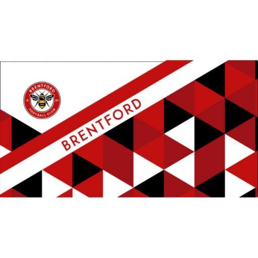 Brentford Personalised Towel - Geometric Design - 70 x 140