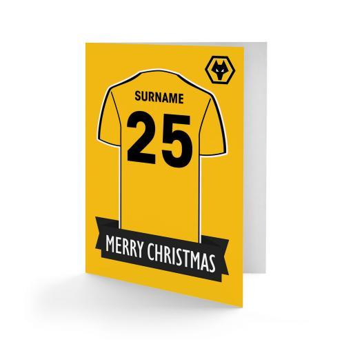 Wolves Shirt Christmas Card