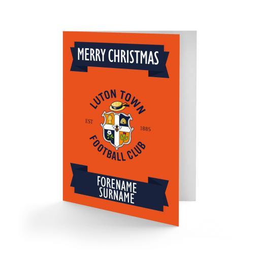 Luton Town FC Crest Christmas Card