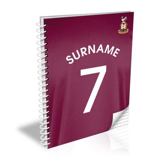 Bradford City AFC Shirt Notebook