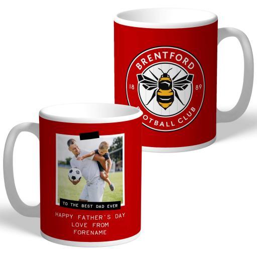 Brentford FC Best Dad Ever Photo Upload Mug