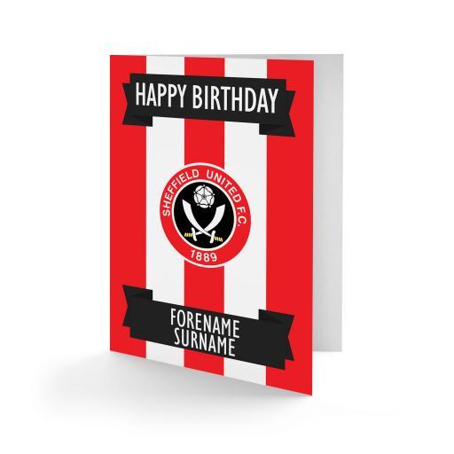Sheffield United FC Crest Birthday Card