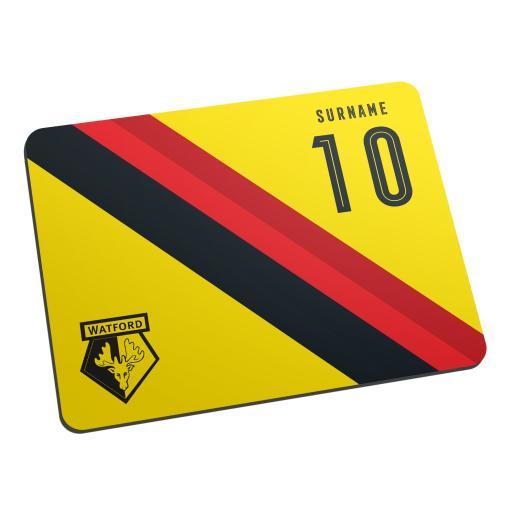 Watford FC Stripe Mouse Mat