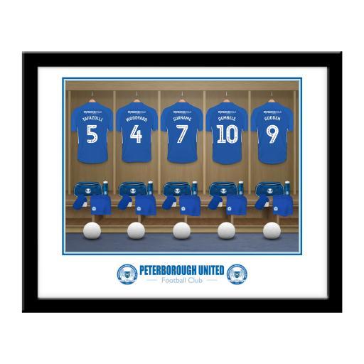Peterborough United FC Dressing Room Framed Print