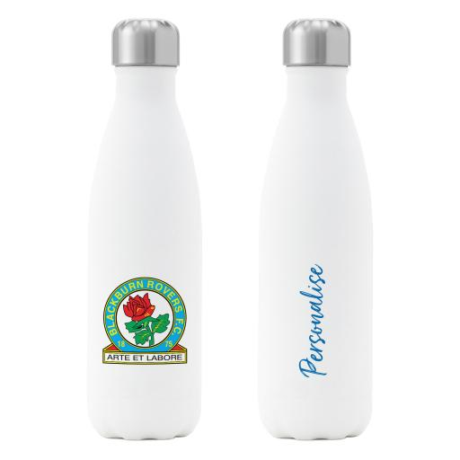 Blackburn Rovers FC Crest Insulated Water Bottle - White