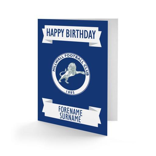 Millwall FC Crest Birthday Card