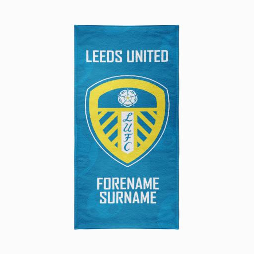 Leeds United FC Crest Design Towel - 70cm x 140cm