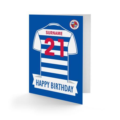 Reading FC Shirt Birthday Card