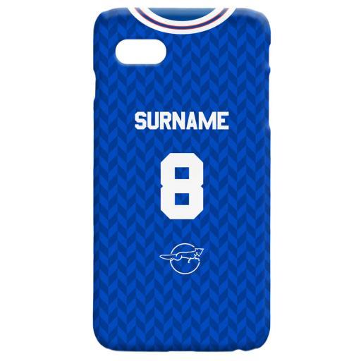 Leicester FC Retro 87 Kit Hard Back Phone Case