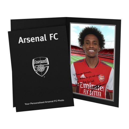 Arsenal FC Willian Autograph Photo Folder