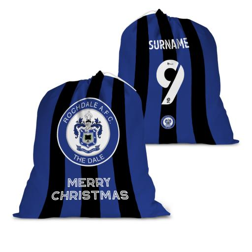 Rochdale AFC Back of Shirt Santa Sack