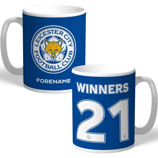 Leicester City FC Winners 2021 Back of Shirt Mug