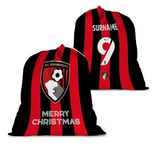 AFC Bournemouth Back of Shirt Santa Sack