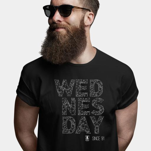Sheffield Wednesday FC Wireframe Men's T-Shirt - Black