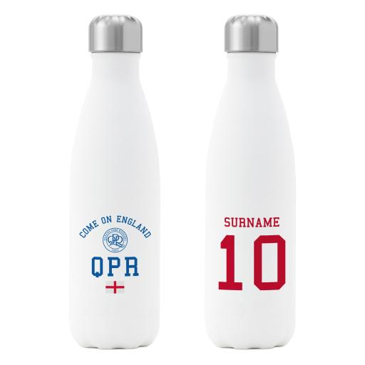 Queens Park Rangers FC Come On England Insulated Water Bottle - White