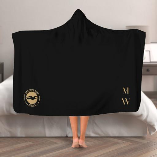 Brighton & Hove Albion FC Initials Hooded Blanket (Adult)