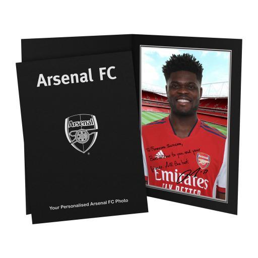 Arsenal FC Partey Autograph Photo Folder