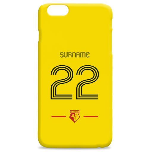 Watford FC Retro Shirt Hard Back Phone Case