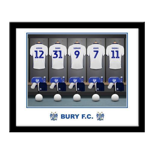 Bury FC Dressing Room Framed Print
