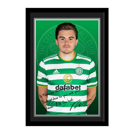 Celtic FC Forrest Autograph Photo Framed