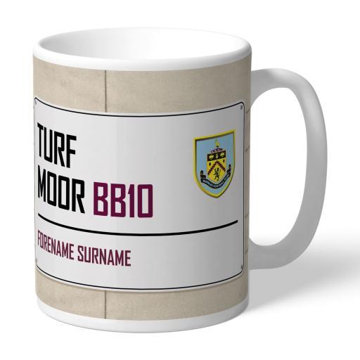 Burnley FC Street Sign Mug