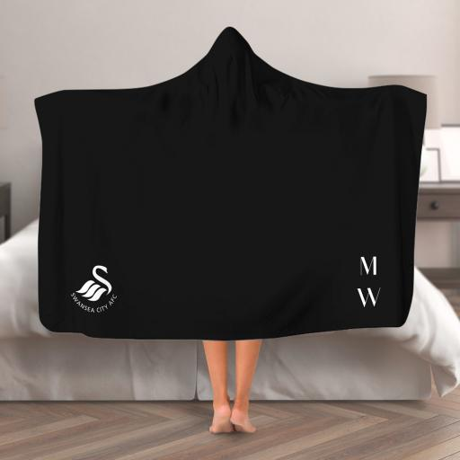 Swansea City AFC Initials Hooded Blanket (Adult)