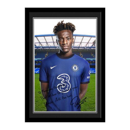 Chelsea FC Abraham Autograph Photo Framed