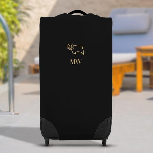 Derby County Initials Caseskin Suitcase Cover (Small)