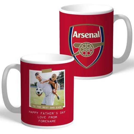 Arsenal FC Best Dad Ever Photo Upload Mug