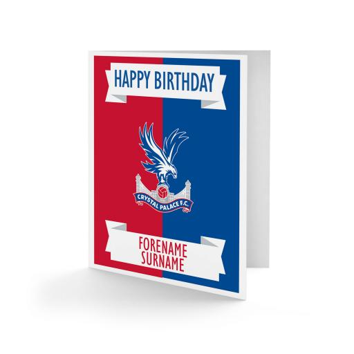 Crystal Palace FC Crest Birthday Card