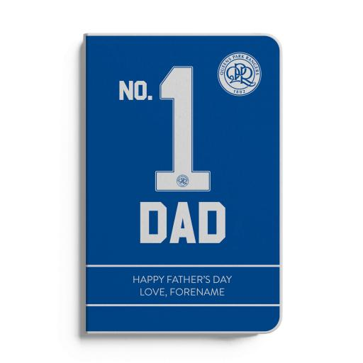 Queens Park Rangers FC No.1 Dad A5 White Lined Notebook