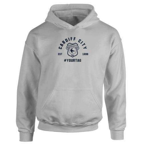 Cardiff City FC Vintage Hashtag Hoodie