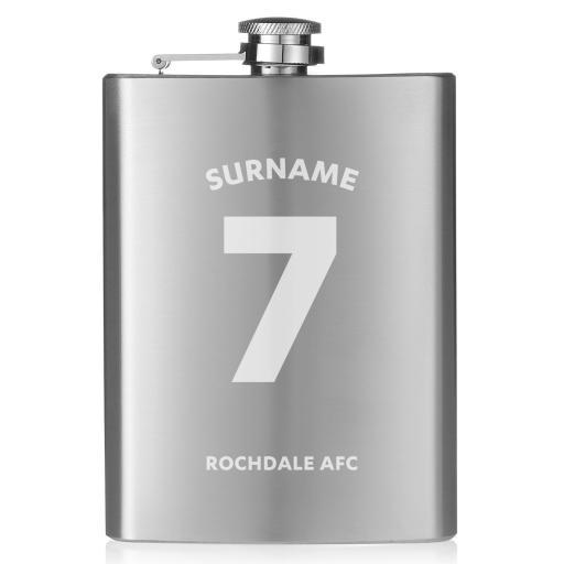 Rochdale AFC Shirt Hip Flask