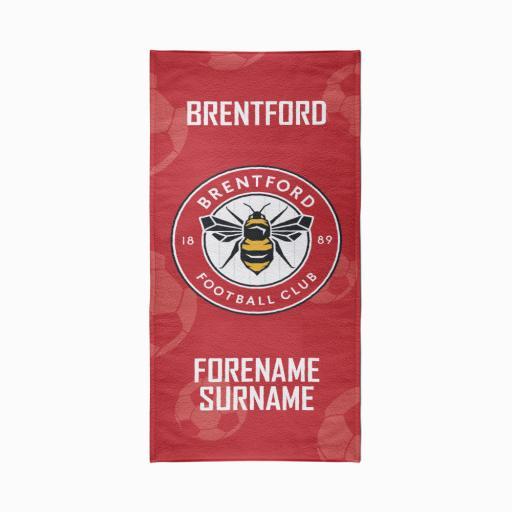Brentford FC Crest Design Towel - 80cm x 160cm