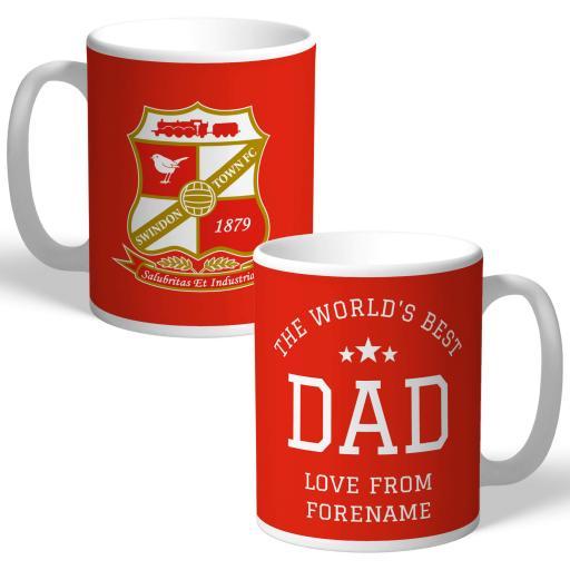 Swindon Town FC World's Best Dad Mug