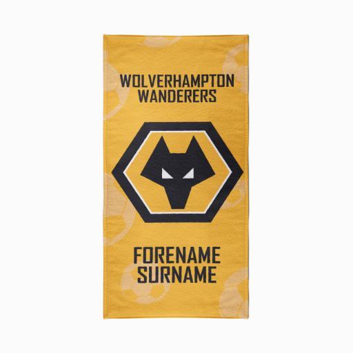 Wolves Crest Design Towel - 70cm x 140cm