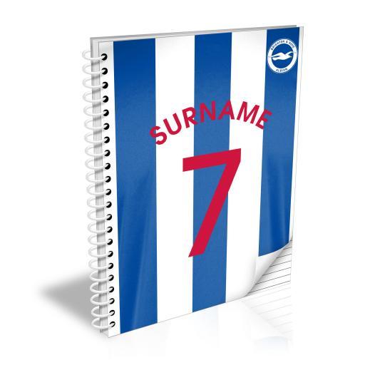 Brighton & Hove Albion FC Shirt Notebook
