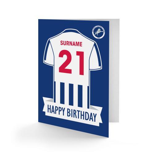 Millwall FC Shirt Birthday Card