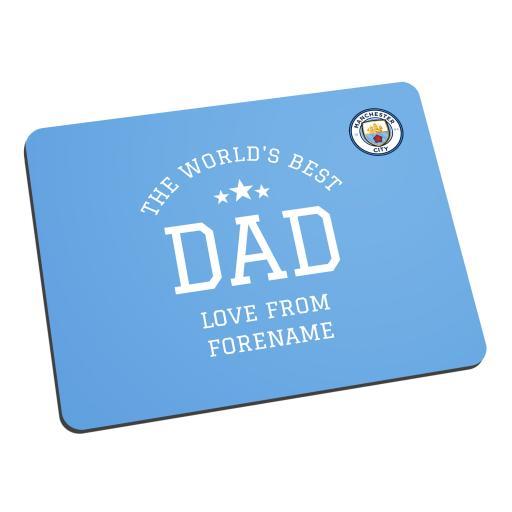 Manchester City FC World's Best Dad Mouse Mat