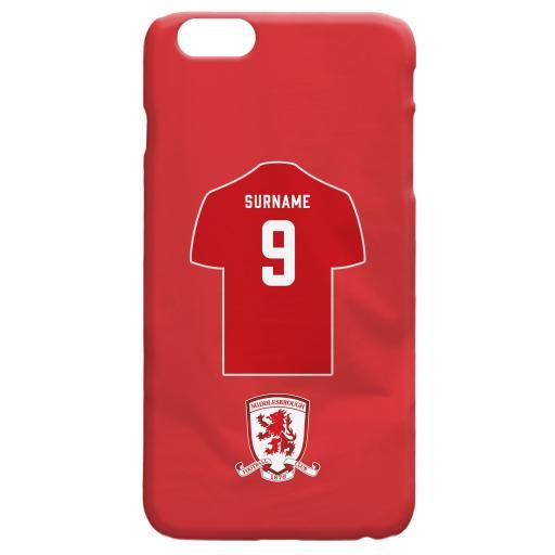 Middlesbrough FC Shirt Hard Back Phone Case