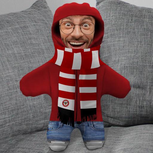 Brentford FC Hoodie Mini Me Photo Upload Cushion