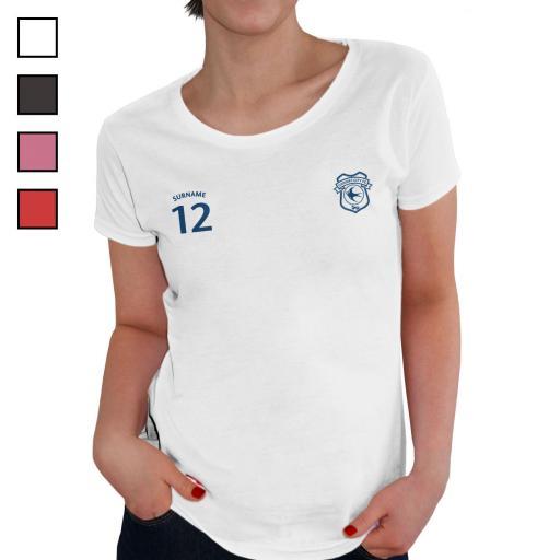 Cardiff City FC Ladies Sports T-Shirt