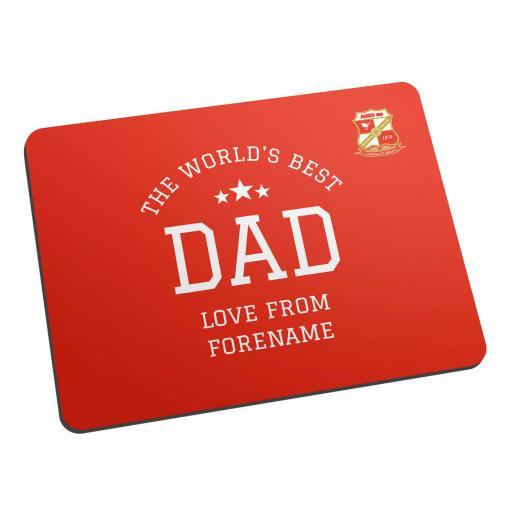 Swindon Town FC World's Best Dad Mouse Mat