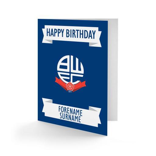 Bolton Wanderers FC Crest Birthday Card