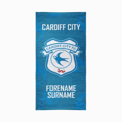 Cardiff City FC Crest Design Towel - 70cm x 140cm