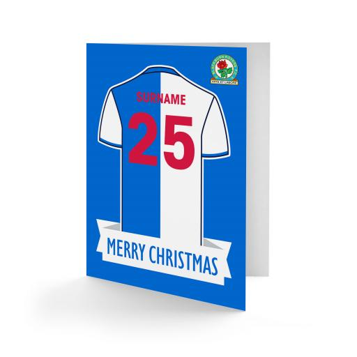 Blackburn Rovers FC Shirt Christmas Card